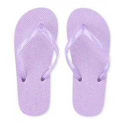 Girls Glitter Flip Flops - Purple