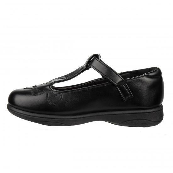 Petalia  Girls' Mary Jane  Heart  School Shoes - Little  Girls