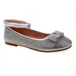 Nanette Lepore Girls Rhinestone Flat - Silver