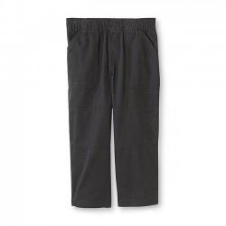 Toughskins Boy's Elastic Waist Twill Pants-Black