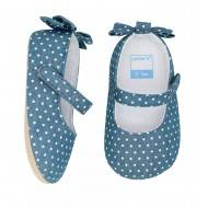 Carter's Chambray Bow Maryjane Crib Shoes - Baby Girls