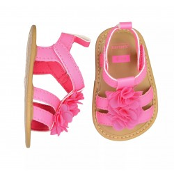 Carter's Double Strap Floral Sandal Crib Shoes - Baby Girls