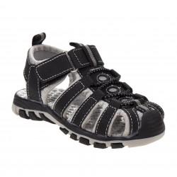 Rugged Bear Sport Sandals - Big Boys- BLACK/GREY