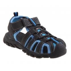 Rugged Bear Boy's, Sport Sandal (Toddler Boys) - BLACK/BLUE