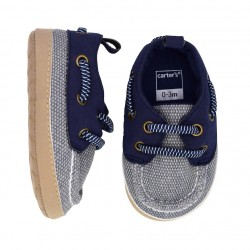 Carter's Navy Boat Crib Shoes  - Baby Boy