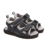 Scott David Justin Sandal - Toddler Boys (GREY/NAVY)