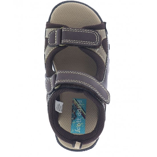 Scott David Justin Sandal - Toddler Boys (BROWN/TAN)