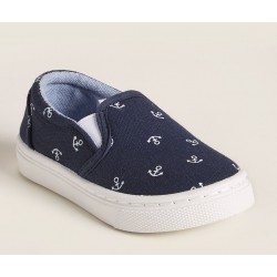 CAPELLI NEW YORK Navy Anchor Slip-On Sneakers - Toddler