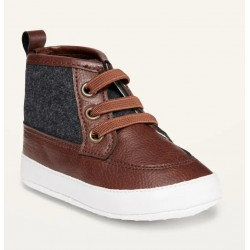 Baby Boy  Faux-Leather Color-Blocked Booties by Old Navy
