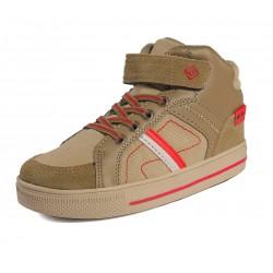 DREAM PAIRS Boys High Top Sneaker Shoes - Tan/Beige