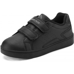 DREAM PAIRS Boy/Girl  Loafers Sneakers - Black