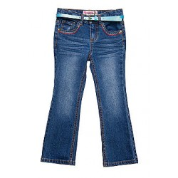 Squeeze Stitching Bootcut Jeans