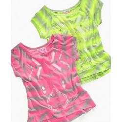 Fang Sugar Tart Kids Shirt, Girls Neon Stripe Tees